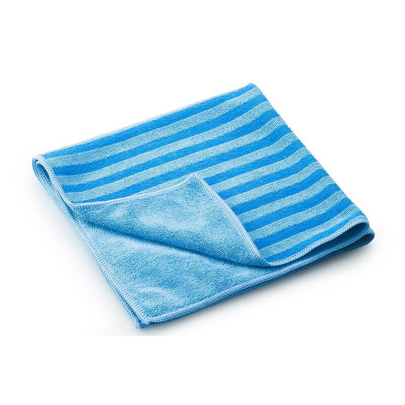 Microfaser Tuch mit Borsten blau gestreift