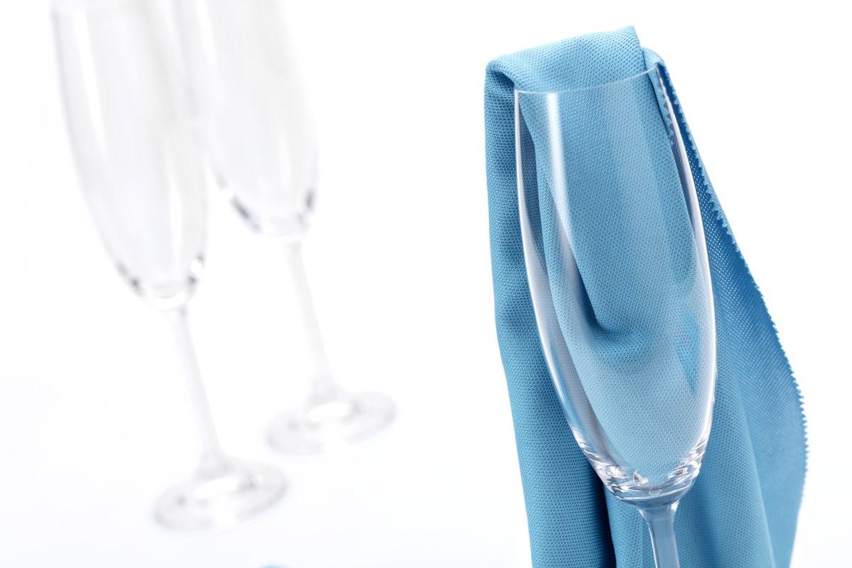 Microfaser Glastuch randlos (blau)