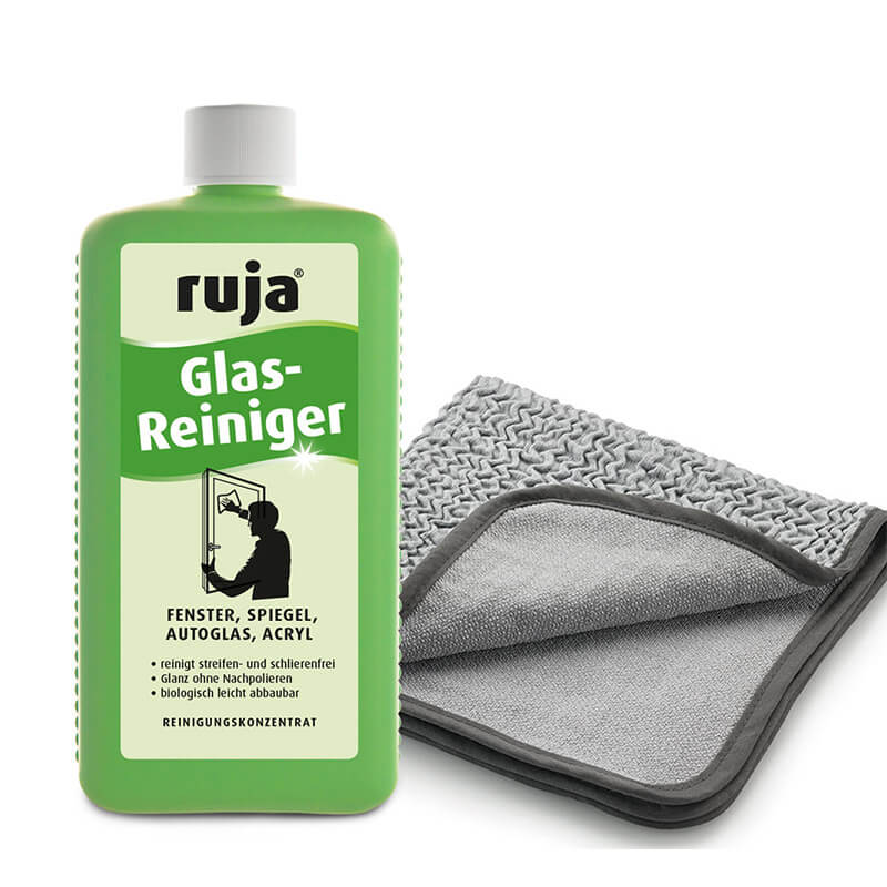 ruja Glasreiniger    1 l + Duo-Tuch