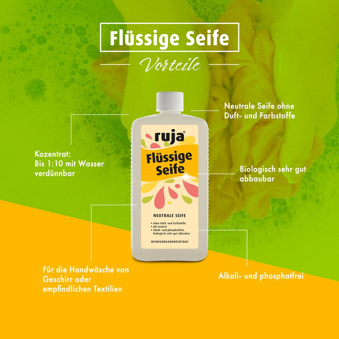 Vorteile ruja Flüssige Seife
