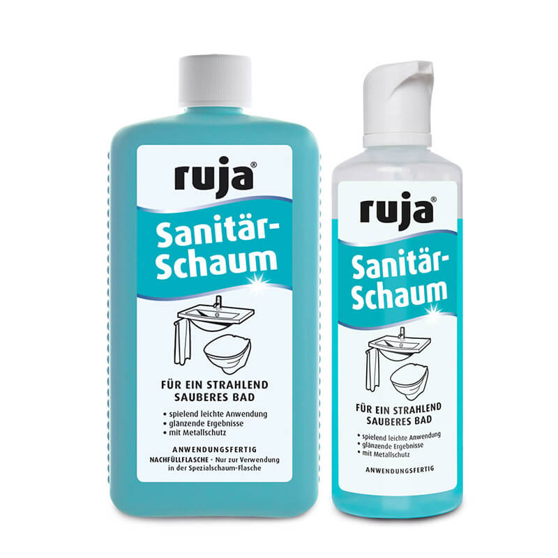 ruja Sanitärschaum   Set   250 ml Spezialschaumflasche + 1 l Nachfüllflasche